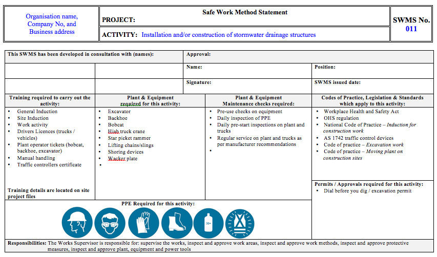 Admincustodian safety services custodian safety services for Ohs management plan template